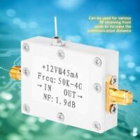 LNA Low Noise 50K-4G High Gain 25DB @ 0.8G High Gain Flatness RF Amplifier HOT