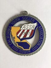91 Southern California Youth Soccer Association Medal Die Cut Metal Enamel Inlay