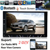 "7"" HD 2DIN SALPICADERO Bluetooth Radio de coche ANDROID USB FM MP3 MP4 MP5"