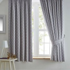 Stars Grey White Blackout Curtains 72s