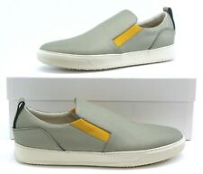 Cipher Voyager Men's Slip On Trainers Sneakers Pumps - Grey / Yellow