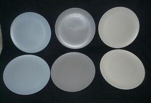 "Lot 6 assiettes plate 25 cm ""vaisselle BAMBOO"" pour camping"