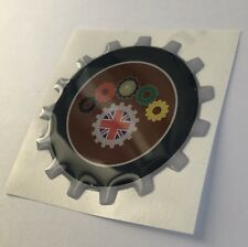 VESPA COG COGS  RESIN 3D BADGE . ULMA FALBO VIGANO SCOOTER UK GB LAMBRETTA WASP
