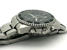 VICTORINOX SWISS ARMY STAINLESS STEEL CHRONOGRAPH 45mm BLACK DIAL BAND SERVICED
