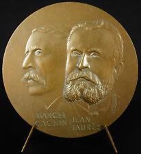 Médaille Jean Jaurès jounal l'Humanité Marcel Cachin parti communiste 1904 medal