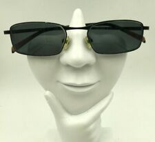 Vintage Columbia Todd Creek 381 Black Metal Oval Sunglasses FRAMES ONLY