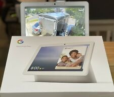 """Google Nest Hub Max 10"""" Voice-Activated Touchscreen Smart Assistant Chalk"""