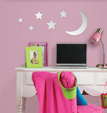 Moon & Stars Wall Mirror Decal Sticker Wall Decal Sticker - 13x13