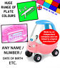 N.E.stickers PRINCESS personalised number plates SIZED TO FIT Little Tikes car