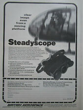 10/1981 PUB BRITISH AEROSPACE STEADYSCOPE DAY NIGHT MONOCULAR VIEWER GAZELLE AD
