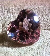 12.20ct Heart shaped Kunzite, Excellent clarity and color, 14.00mm x 14.75mm.