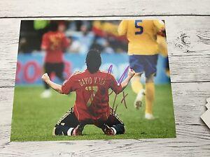 David Villa Signed Team Spain 8x10 Photo PROOF Autographed Barcelona FC f