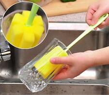1pc Pro Sponge Brush Bottle Cup Glass Washing Cleaning Kitchen Cleaner Tool