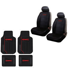 New 8pc GMC Elite Universal Fit Heavy Duty Rubber Floormats and Seat Covers