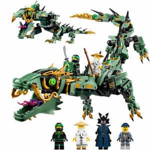 Dragon Ninja NEW LEGO Blocks Toy-Ninjago--70612-Building-Kit-592-Pcs-Mech-Green