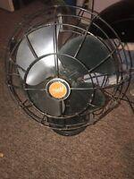 Vintage Diehl Oscillating 3 Speed Tilt Head Fan Works 12912
