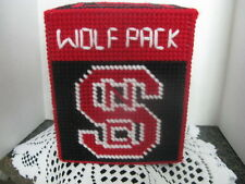 Sports Tissue Box Cover ~ Handcrafted ~ *Gift Idea ~ Wolfpack