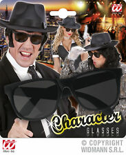 PERSONNAGE lunettes noir, Mafia, style gangster, , Rocker femmes et hommes