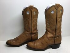 VTG WOMENS UNBRANDED BUCKAROO COWBOY LEATHER BROWN BOOTS SIZE 7 M
