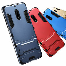 Hybrid Armor Kickstand Shockproof Rugged Bumper Cover Case For HTC Google Nokia
