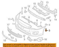 MITSUBISHI OEM Lancer Front Bumper Grille Grill-Bumper Cover Screw MS452397