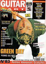 "GUITAR PART #83 ""Green Day,Papa Roach,Frank Black,Korn,Tool"" (REVUE)"
