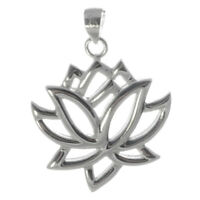 Lotus Anhänger 925er Silber Symbol Schmuck - NEU