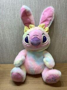 "Disney Store Lilo & Stitch Plush Soft Toy  Large 14"" Easter 2020 Angel Pink"