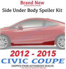 Genuine OEM Honda Civic 2Dr Coupe Side Under Body Spoiler Kit 2012- 2015