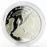 Saharawi 500 pesetas Ancient Ship proof silver coin 1990