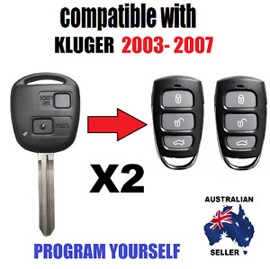 SUITS TOYOTA KLUGER REMOTES CENTRAL LOCKING FOBS NO KEY 2003 2004 2005 2006 2007