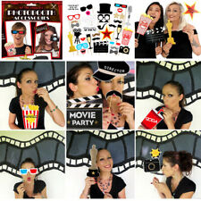 33Pcs Oscars Photo Booth Props Movie Hollywood Party Decors Selfie Fun Wedding