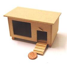 1:12 Scale Natural Finish Wooden Rabbit Hutch Dolls House Miniature Garden DOR