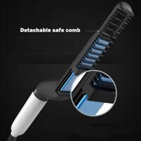 Quick Hair Styler Comb Curling Iron Volumize Flatten Side Straighten for Men hi