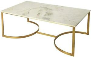 COCKTAIL TABLE RECTANGULAR RECTANGLE GOLD WHITE DISTRESSED BLACK BRASS CRE