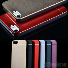 BA_ Delicate Metal Brushed Aluminum Shell Back Case Cover For iPhone 4 4S 5 5S
