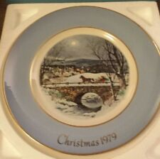 "VNTG AVON CHRISTMAS PLATE SERIES- 1979 ""DASHING THROUGH THE SNOW"" 7TH EDITION"