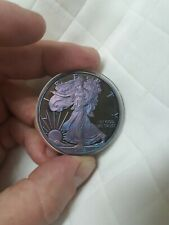 2010-W Silver Eagle Proof Absolutely Astonishing Sky-Blue Pink! Nicest I've Seen