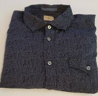 TOMMY BAHAMA JEANS Blue striped casual Mens Shirt Cotton XL 39-14