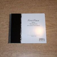 First Place 6 Stave Spiral Sheet Music Manuscript Paper Song Book & Lesson Log