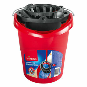 Vileda Bucket & Wringer for SuperMocio Mops with Torsion Power and Carry Handle