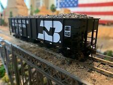 HO Scale Atlas 3 Bay Coal Hopper Burlington Northern BN w/load METAL WHEELS nice