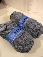 Lot 2 Skeins SIRDAR DENIM ULTRA Yarn Mega Chunky Acrylic/Cotton/Wool Blue Denim