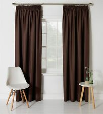 HOME Blackout Thermal Unlined 5 Inch Header Curtains 168x183cm - Chocolate