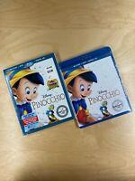 Pinocchio (Blu-ray/DVD, 2017, 2-Disc Set, Digital Copy) with Slip Sleeve NEW