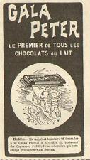 CHOCOLAT GALA PETER KOHLER PUBLICITE 1910