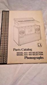 Rock-Ola Model 454-160-453-100 Parts Catalog Phonographs