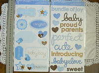 BABY BOY Sticker Packs x 2 FLAT - Accents & Phrases (22 Stickers Total) L4R