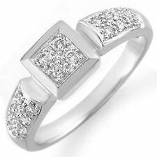 Genuine 0.38 ctw Diamond Anniversary Ring 18K White Gold Size 6 - $4600 value!