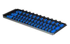 """Ernst 8491 SOCKET BOSS 3 Rail 13"""" Socket Tray Organizer System - Blue"""